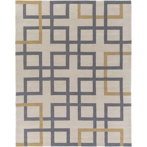 Hand-Tufted Goole Crosshatched Rug