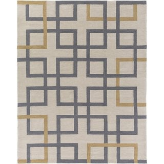 Hand-Tufted Goole Crosshatched Rug (7'6 x 9'6)