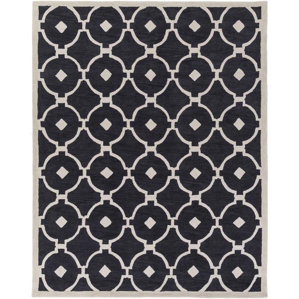 Shop Hand-Tufted Grays Moroccan Trellis Rug (7'6 X 9'6