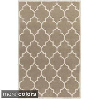 Hand-Tufted Rugby Moroccan Trellis Rug (2' x 3')
