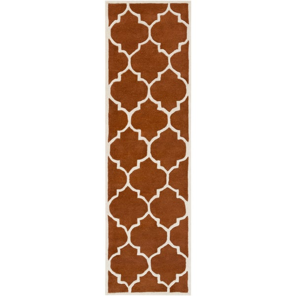 Hand-Tufted Rugby Moroccan Trellis Rug (2'3 x 14')