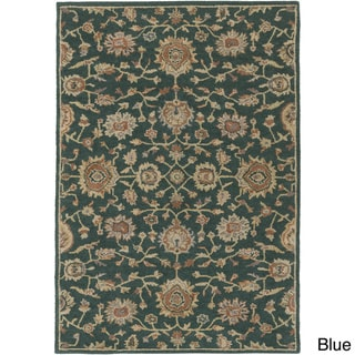 Hand-Tufted Calne Floral Wool Rug (7'6 x 9'6)