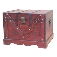 Old Style Treasure Chest (Set of 2) - cherry