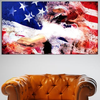Design Art 'Football USA Quarterback' Canvas Art Print