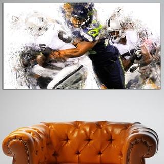 Design Art 'Football Tackle' Canvas Art Print
