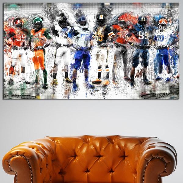 Design Art 'Football Team' Canvas Art Print. Opens flyout.