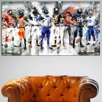 Design Art 'Football Team' Canvas Art Print