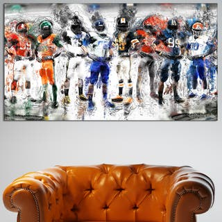 Design Art 'Football Team' Canvas Art Print