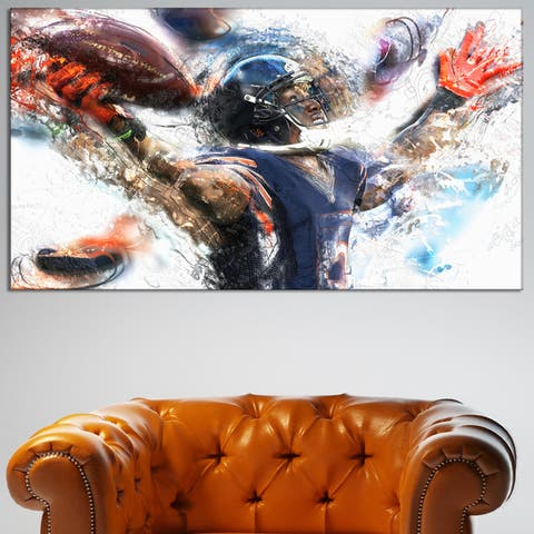 Design Art 'Football Touchdown' Canvas Art Print