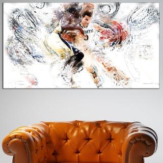 Design Art 'Basketball Pick and Roll' Canvas Art Print
