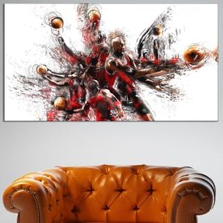 Design Art 'Basketball Lay Up' Canvas Art Print