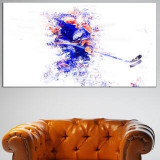 Design Art 'Hockey Lets Go Defense' Canvas Art Print