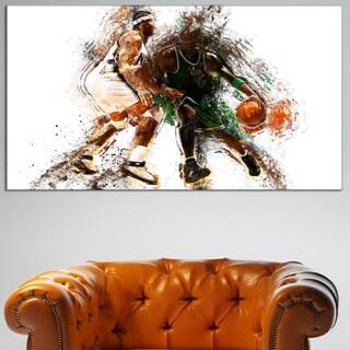 Design Art 'Basketball Lets Go Defense' Canvas Art Print