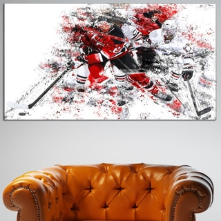 Design Art 'Hockey Break Away' Canvas Art Print