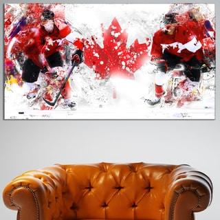 Design Art 'Hockey In Canada' Canvas Art Print