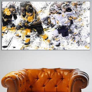 Design Art 'Hockey Power Play' Canvas Art Print