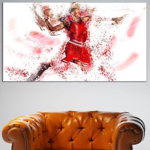 Design Art 'Basketball Slam Dunk' Canvas Art Print
