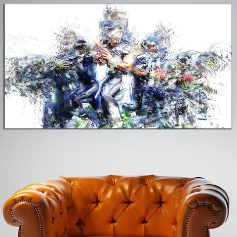 Design Art 'Football Strategic Plays' Canvas Art Print