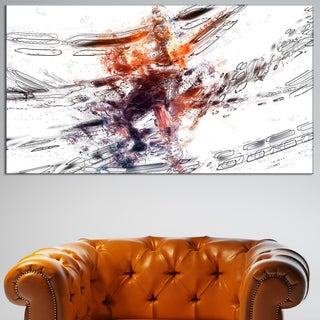 Design Art 'Basketball Abstract 3 Pointer' Canvas Art Print