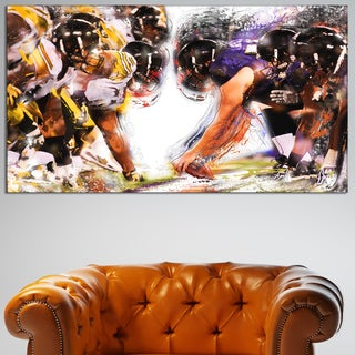 Design Art 'Football Hut' Canvas Art Print