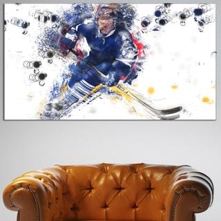 Design Art 'Hockey Penalty Shot' Canvas Art Print