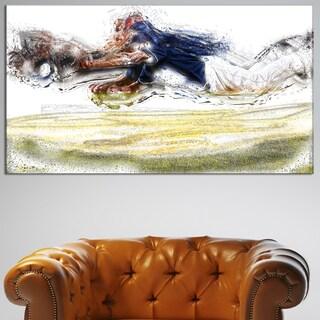 Design Art 'Baseball Yourrrre Out' Canvas Art Print