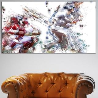 Design Art 'Baseball Strike' Canvas Art Print