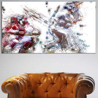 Design Art 'Baseball Strike' Canvas Art Print