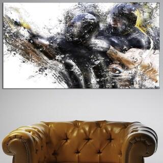 Design Art 'Football Take Down' Canvas Art Print