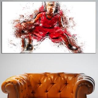 Design Art 'Basketball Dribble' Canvas Art Print