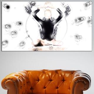Design Art 'Meditation Mind Body and Soul' Canvas Art Print