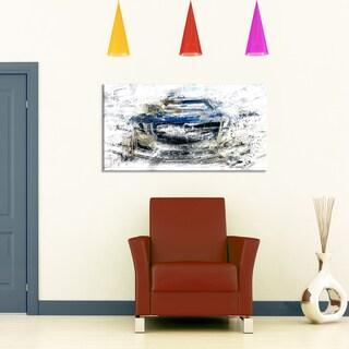 Design Art 'Abstract Muscle Car' Canvas Art Print