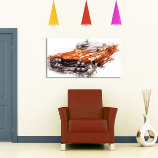 Design Art 'Burnt Orange Classic Car' Canvas Art Print