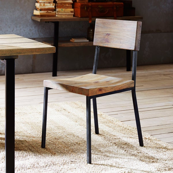 Wood Steel Dining Room Chairs: Shop Ink+Ivy Tacoma Dining Chairs (Set Of 2)