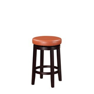 Linon Dorothy Backless Counter Stool with Tuscany Swivel Seat