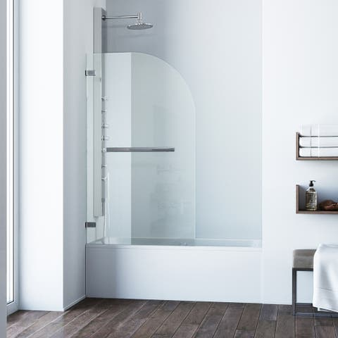 VIGO Orion Clear Bathtub Door