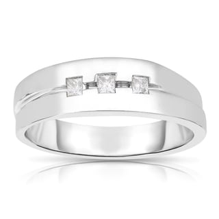 Eloquence 14k White Gold 1/5ct TDW Diamond Ring (H-I, I1-I2)