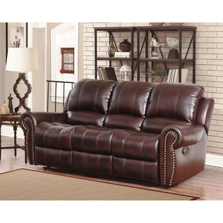 ABBYSON LIVING Broadway Premium Top-grain Leather Reclining Sofa