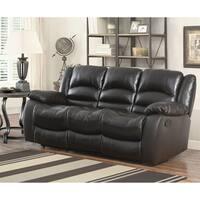 Abbyson Brownstone Top Grain Leather Reclining Sofa