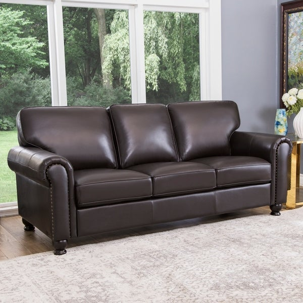 Abbyson London Top Grain Leather Sofa