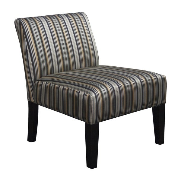 Shop Somette Armless Slipper Grey Stripe Chair Free