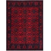 Herat Oriental Afghan Hand-knotted Tribal Khal Mohammadi Wool Rug (5'9 x 7'8) - 5'9 x 7'8