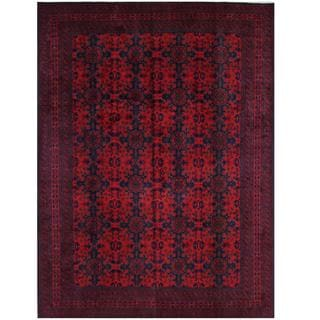 Herat Oriental Afghan Hand-knotted Tribal Khal Mohammadi Red/ Burgundy Wool Rug (8'3 x 11'3)