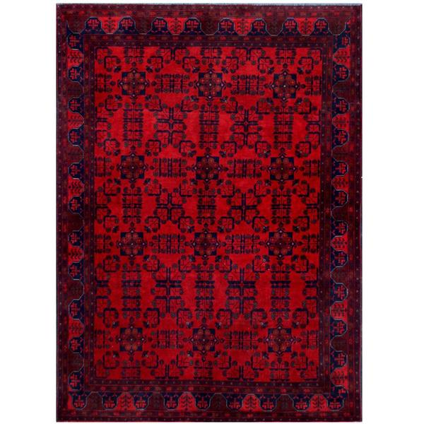 Herat Oriental Afghan Hand-knotted Tribal Khal Mohammadi Wool Rug (5'7 x 7'8) - 5'7 x 7'8