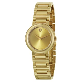 Movado Women's 0606704 'Concerto' Goldtone Stainless Steel Swiss Quartz Watch