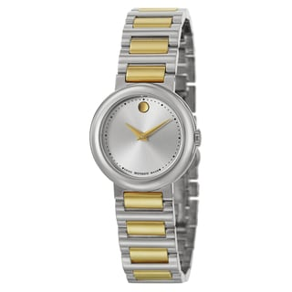 Movado Women's 0606703 'Concerto' Two-tone Stainless Steel Swiss Quartz Watch