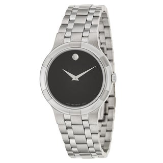 Movado Men's 'Metio' Stainless Steel Swiss Quartz Watch - Silver