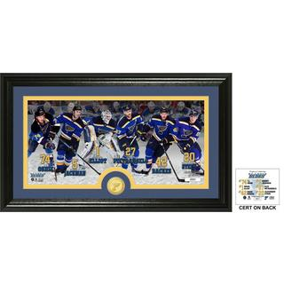 St. Louis Blues Team Force Bronze Coin Panoramic Photo Mint