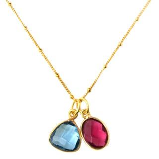 Alchemy Jewelry Gold Plated Dual Gemstone Necklace