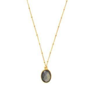 Alchemy Jewelry Gold Overlay Labradorite Pendant Necklace